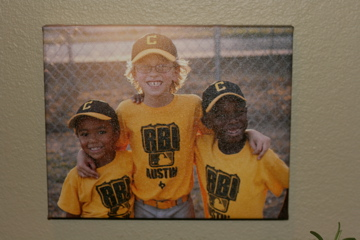 baseball photo to a canvas!