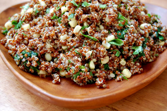 Mexican Quinoa Salad & Tofu English Muffins