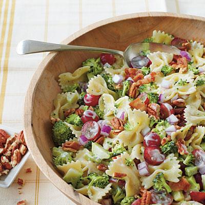 Potato salad, sweet potato & lentil soup, pasta salad