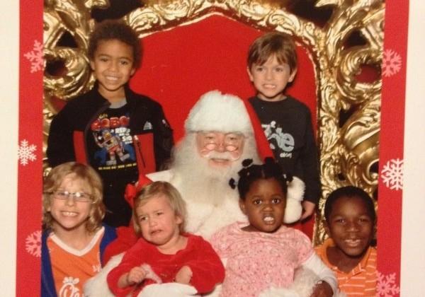 Santa pics over the years