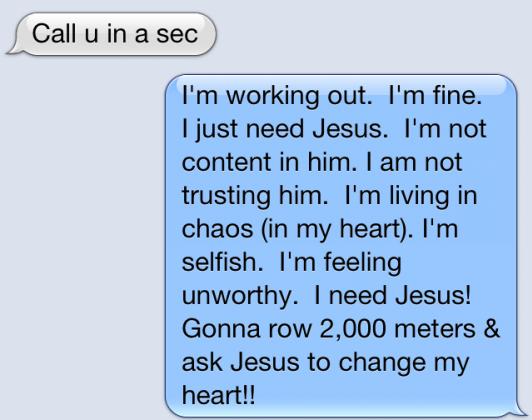 I need Jesus!