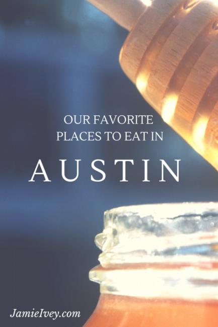 Austin eating