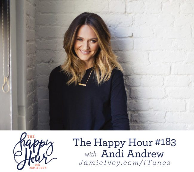 b32309c4a5 My guest for The Happy Hour   183 is Andi Andrew. Andi is the author of She  Is Free